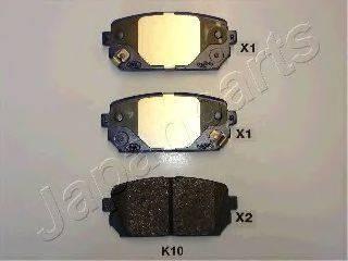 Комплект тормозных колодок, дисковый тормоз JAPANPARTS PP-K10AF