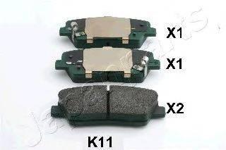 Комплект тормозных колодок, дисковый тормоз JAPANPARTS PP-K11AF