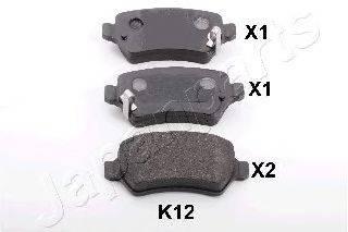 Комплект тормозных колодок, дисковый тормоз JAPANPARTS PP-K12AF