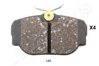 Комплект тормозных колодок, дисковый тормоз JAPANPARTS PP-L02AF