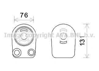 масляный радиатор, двигательное масло AVA QUALITY COOLING RT3607