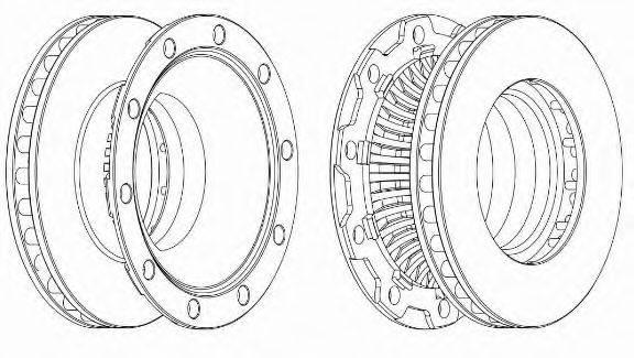 Тормозной диск BERAL BCR252A