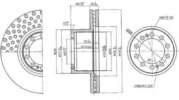 Тормозной диск BERAL BCR323A