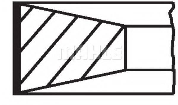 Комплект поршневых колец MAHLE ORIGINAL 002 80 N0