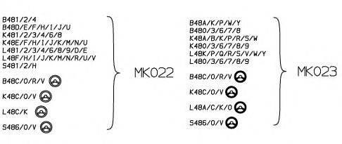 Опора стойки амортизатора MONROE MK023