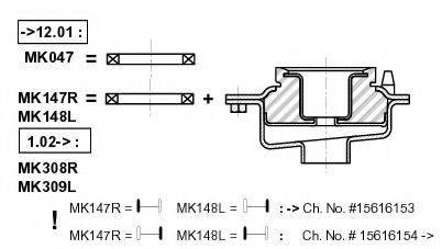 Опора стойки амортизатора MONROE MK148L