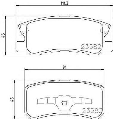 Комплект тормозных колодок, дисковый тормоз TEXTAR 2358202