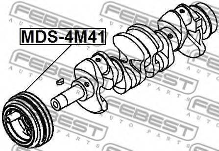 Ременный шкив, коленчатый вал FEBEST MDS-4M41