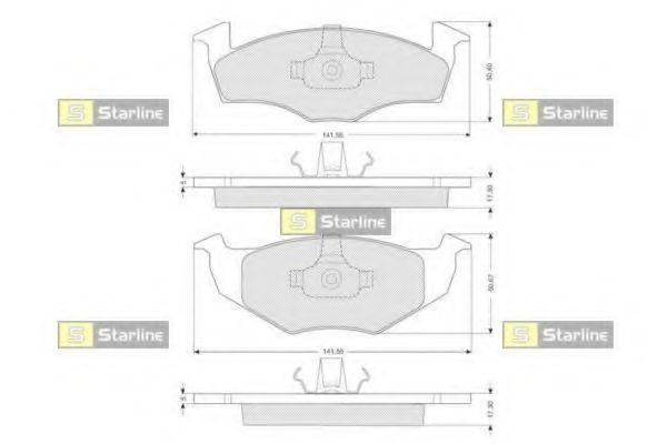 Комплект тормозных колодок, дисковый тормоз STARLINE BD S006S