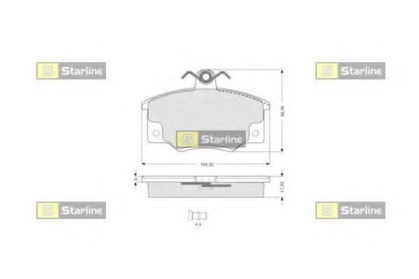 Комплект тормозных колодок, дисковый тормоз STARLINE BD S029