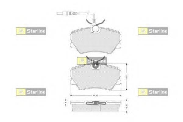 Комплект тормозных колодок, дисковый тормоз STARLINE BD S041