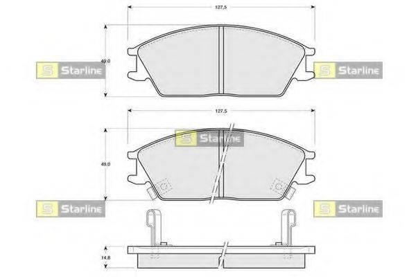 Комплект тормозных колодок, дисковый тормоз STARLINE BD S047