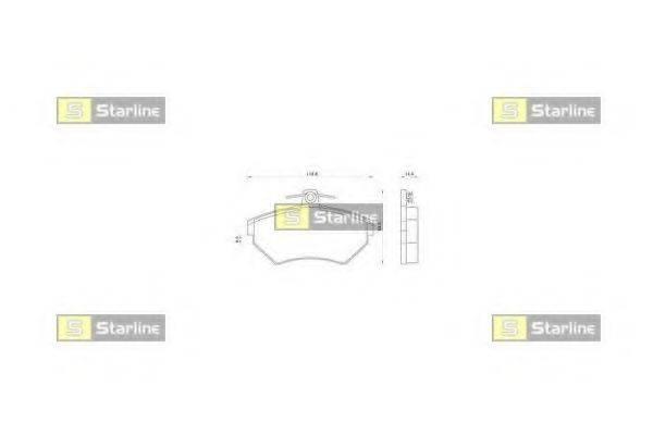 Комплект тормозных колодок, дисковый тормоз STARLINE BD S062