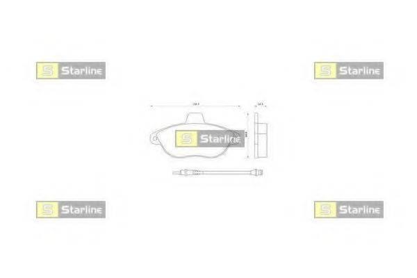Комплект тормозных колодок, дисковый тормоз STARLINE BD S082
