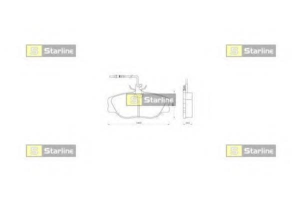 Комплект тормозных колодок, дисковый тормоз STARLINE BD S096