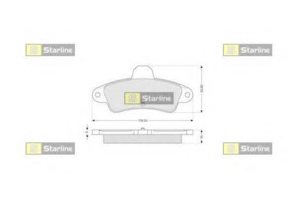 Комплект тормозных колодок, дисковый тормоз STARLINE BD S111