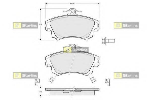 Комплект тормозных колодок, дисковый тормоз STARLINE BD S218
