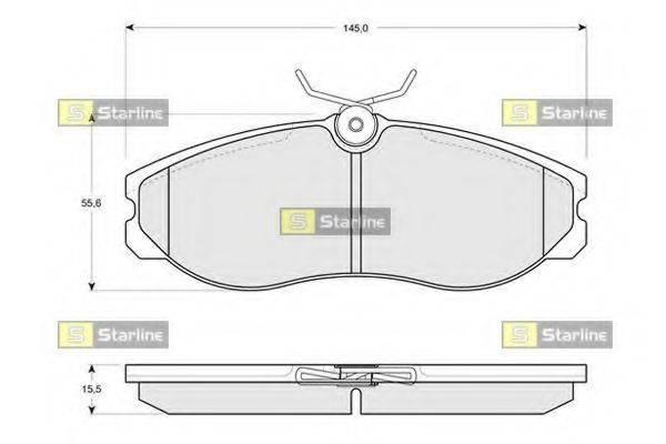 Комплект тормозных колодок, дисковый тормоз STARLINE BD S226