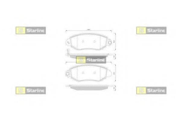 Комплект тормозных колодок, дисковый тормоз STARLINE BD S244