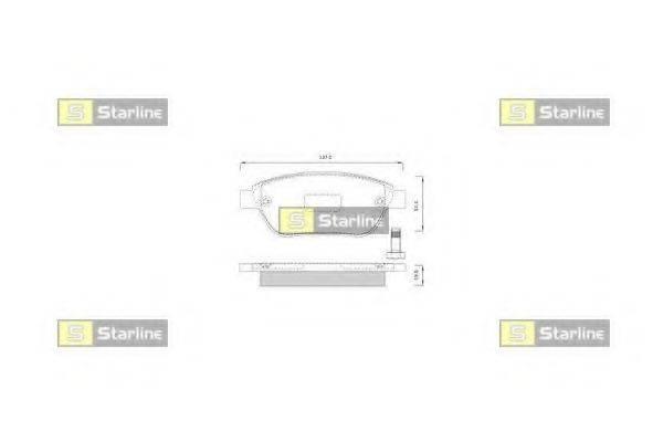 Комплект тормозных колодок, дисковый тормоз STARLINE BD S248