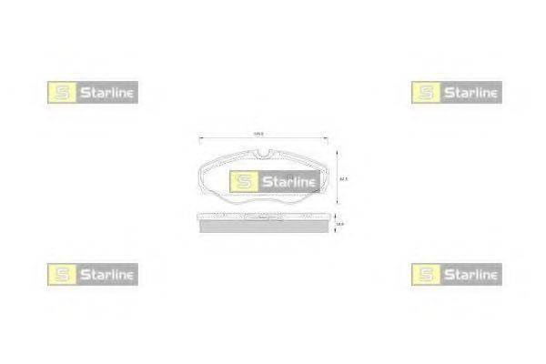 Комплект тормозных колодок, дисковый тормоз STARLINE BD S250