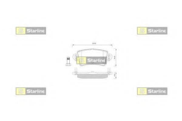 Комплект тормозных колодок, дисковый тормоз STARLINE BD S251