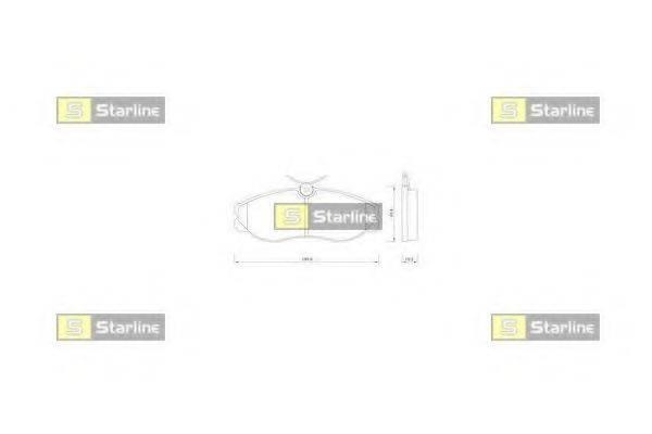 Комплект тормозных колодок, дисковый тормоз STARLINE BD S257
