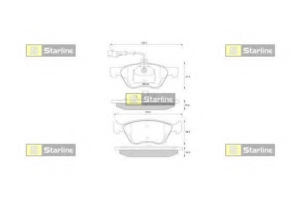 Комплект тормозных колодок, дисковый тормоз STARLINE BD S259