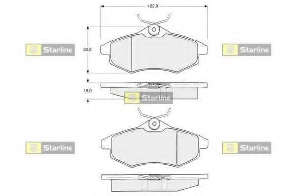 Комплект тормозных колодок, дисковый тормоз STARLINE BD S319