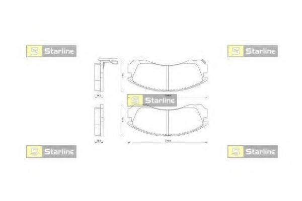 Комплект тормозных колодок, дисковый тормоз STARLINE BD S348