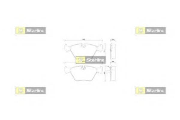 Комплект тормозных колодок, дисковый тормоз STARLINE BD S359