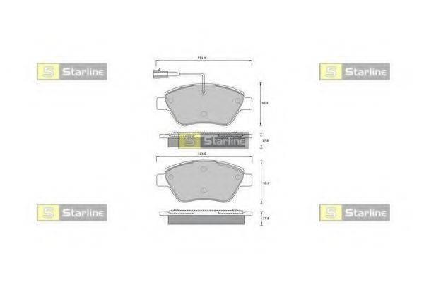 Комплект тормозных колодок, дисковый тормоз STARLINE BD S361