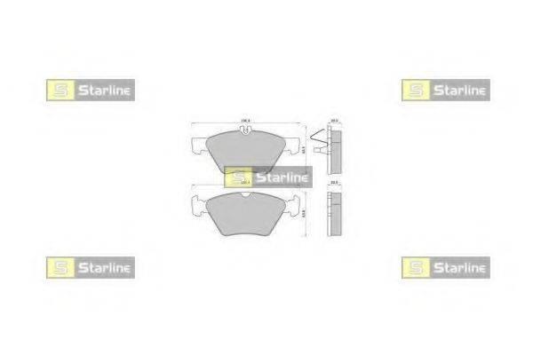 Комплект тормозных колодок, дисковый тормоз STARLINE BD S367