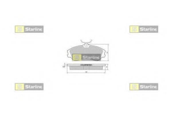 Комплект тормозных колодок, дисковый тормоз STARLINE BD S374
