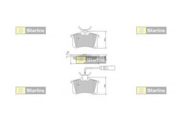 Комплект тормозных колодок, дисковый тормоз STARLINE BD S375