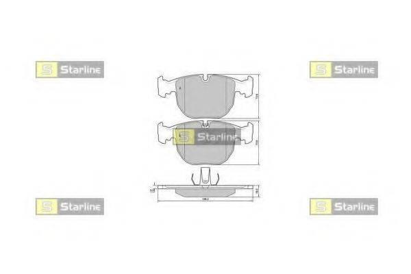 Комплект тормозных колодок, дисковый тормоз STARLINE BD S384