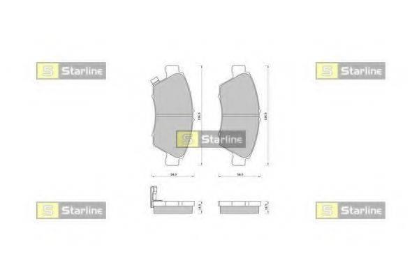 Комплект тормозных колодок, дисковый тормоз STARLINE BD S389