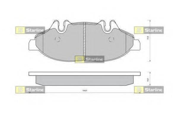 Комплект тормозных колодок, дисковый тормоз STARLINE BD S414