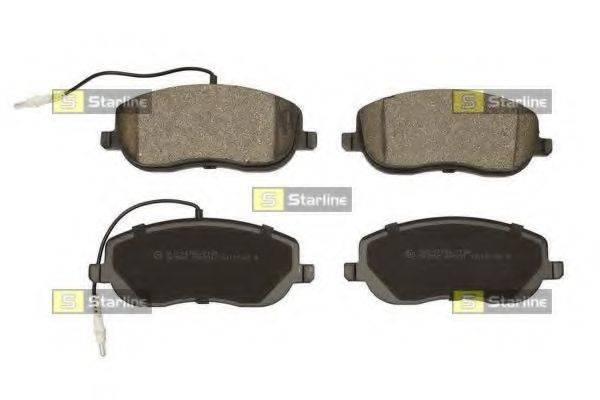 Комплект тормозных колодок, дисковый тормоз STARLINE BD S438