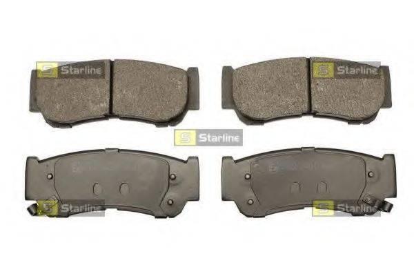 Комплект тормозных колодок, дисковый тормоз STARLINE BD S510