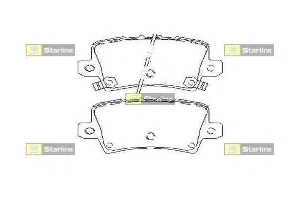 Комплект тормозных колодок, дисковый тормоз STARLINE BD S517