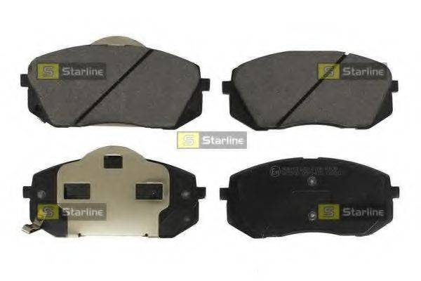 Комплект тормозных колодок, дисковый тормоз STARLINE BD S544