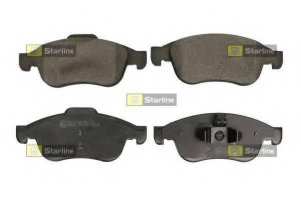 Комплект тормозных колодок, дисковый тормоз STARLINE BD S686