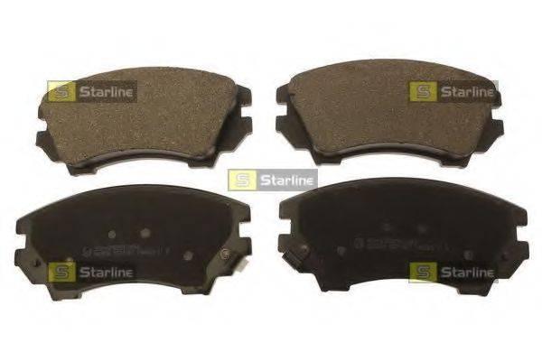 Комплект тормозных колодок, дисковый тормоз STARLINE BD S688
