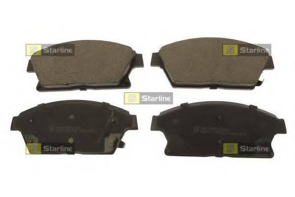 Комплект тормозных колодок, дисковый тормоз STARLINE BD S707
