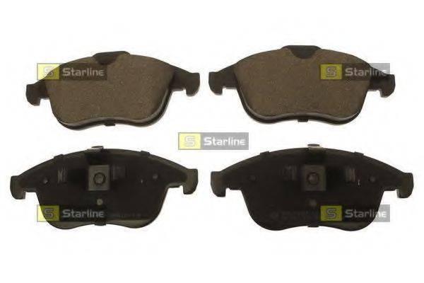 Комплект тормозных колодок, дисковый тормоз STARLINE BD S725