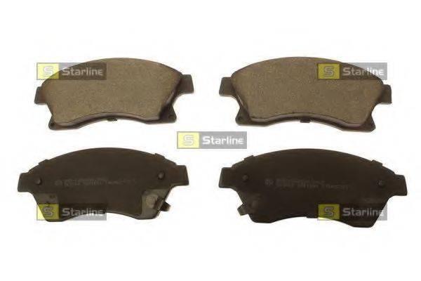 Комплект тормозных колодок, дисковый тормоз STARLINE BD S738