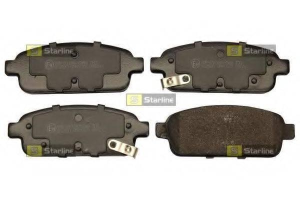 Комплект тормозных колодок, дисковый тормоз STARLINE BD S773