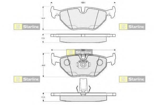 Комплект тормозных колодок, дисковый тормоз STARLINE BD S819P