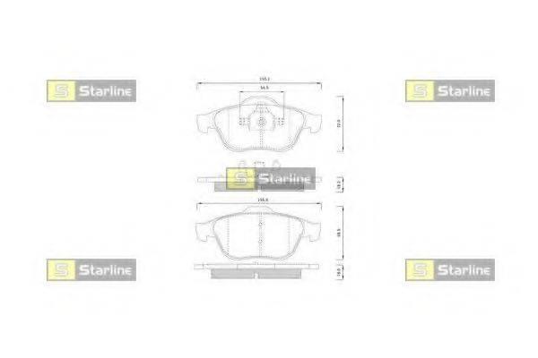 Комплект тормозных колодок, дисковый тормоз STARLINE BD S825P